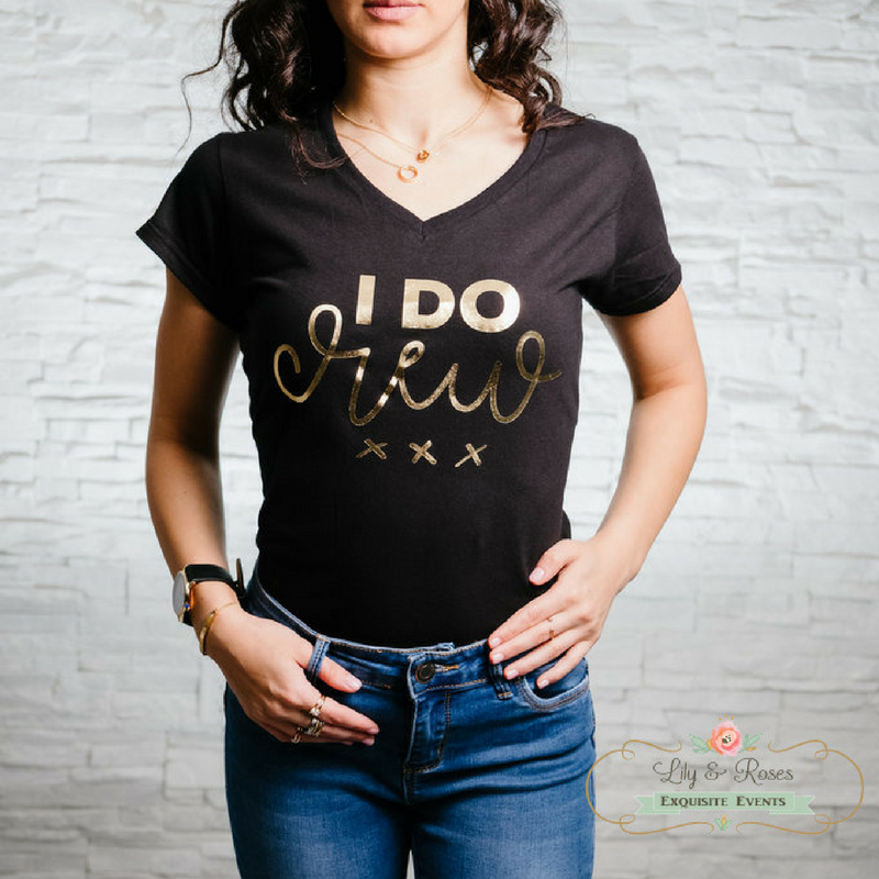 Lily & Roses bridesmade t-shirt ''I do Crew'' from the online shop
